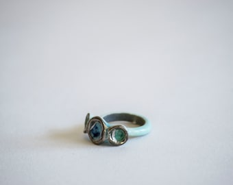 Porcelain Ring. Porcelain Jewelry. Ceramic Ring. Ceramic Jewelry. Ring. Jewelry. Silver. Luster