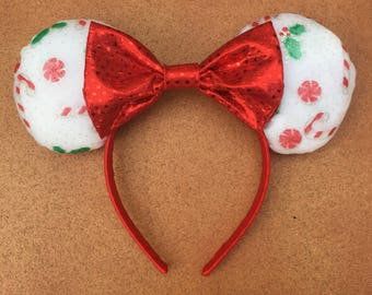 Disney Candy Cane and Peppermint Christmas Ears