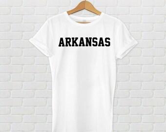 Arkansas Varsity Style T-Shirt - White