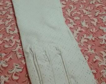 Vintage francés / ceremonia blanco guantes guantes blancos/Vintage / nuevo viejo Stock