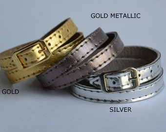 Genuine Leather Bracelet Gold Collection
