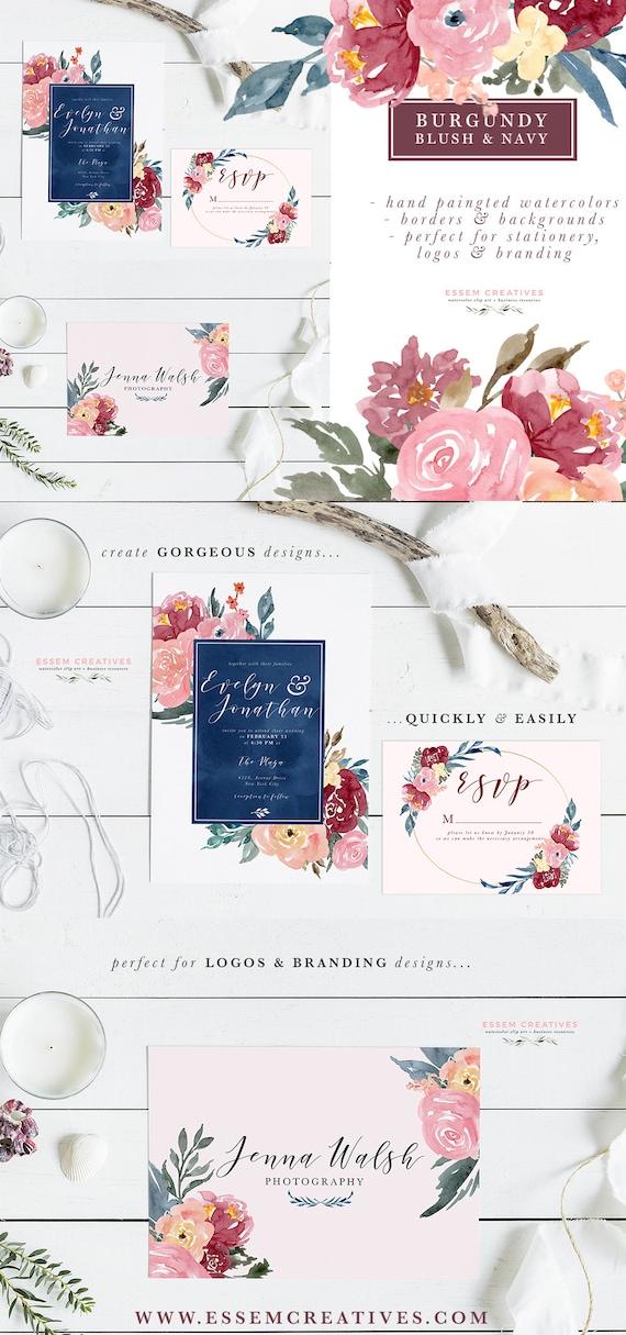 watercolor wedding invitation templates