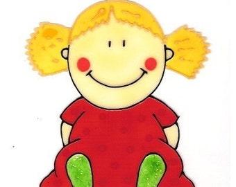 Baby \/ Red- Family Window Art