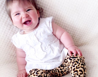 baby leopard leggings, leggings for babies, leggings for girls, leopard baby leggings, baby girl pants and headbands, newborn harem pants