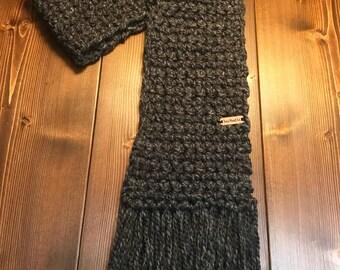 Crocheted women's winter scarf