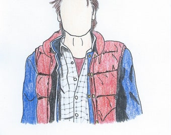 Marty McFly [Back to the Future] Pencil Sketch