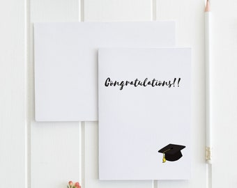 Congratulations Greeting Card, Graduation Card. Buy 1 or a discounted set of 3/ set of 10.