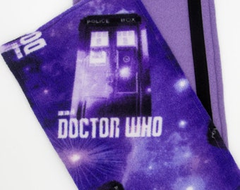 Purple Long Doctor Who Seat Belt Cozy