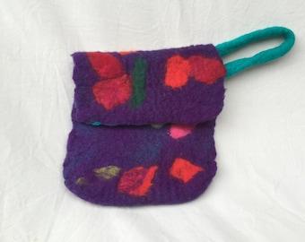 Hand Felted Wool Clutch
