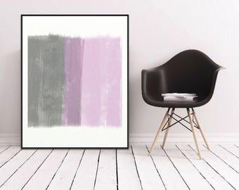 Modern BLUSH PINK Abstract PRINT Print/Scandinavian Print/Minimal Print/Pink Bedroom Print/Large Scandinavian Decor Print/Bedroom Wall Decor