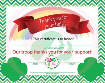 Girl Scouts Volunteer Appreciation - can be customized for Daisy, Brownie, Junior, Cadette leaders and volunteers