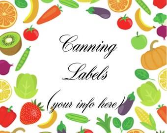 Vegetable Canning or Address Labels