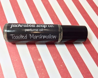 Toasted Marshmallow Perfume Oil, Marshmallow Perfume, Roll On Perfume, Christmas Perfume, Holiday Perfume,  Vanilla Perfume, Smoke Perfume
