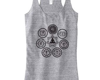 Top Yoga chakra pour les femmes, Yoga Top, débardeur de Yoga, Yoga cadeau pour maman, réussissant, vêtements de Yoga