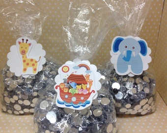 Noah's Ark Party or Baby Shower Candy of Favor Bags with Tags - Set of 10