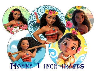 Moana 1 inch Bottle Cap Images 1 INCH Round Images Moana 1 inch images Moana image Printable Moana round images Moana BCI 1 inch Moana image