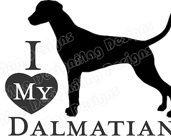Private Listing for idodoglover514 DALMATIAN Vinyl Dog Decal Silhouette in your colors