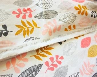 Eloise Renouf / Cloud 9 Fabrics / Leaf Sampler First Light / Organic Cotton Poplin Print / Quilting Crafting Dress / Half Metre