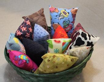 Catnip Pillow, Cat Nip Toy, Kitty Gift, Cotton, Kitten Toy, Multi Cat Toy, Organic Cat Toy, Variety, Fish, Star, Cow, Christmas Animals Cars