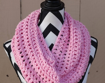 Ready to Ship Pink Infinity Scarf