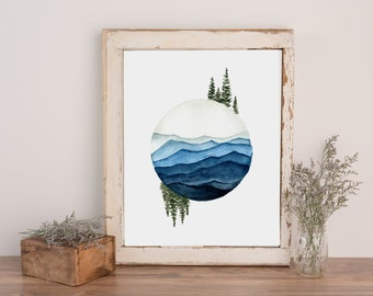 Balance and Tranquility - Watercolor Print
