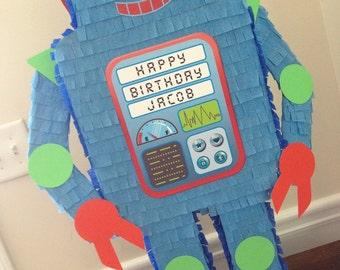 Robot Pinata.  Customizable Robot Pinata