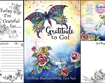 DIGITAL DOWNLOAD 12 step recovery gratitude journal printable, recovery gifts, inspirational gifts, motivational gifts, gratitude printable