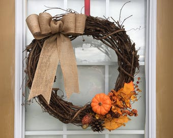 Fall or Thanksgiving Wreath