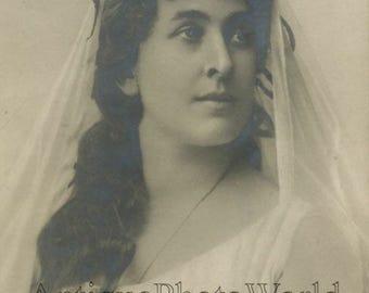 Adelaide Bolskaya beautiful Russian opera singer antique photo pc