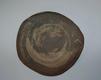 Ceramic ikebana tile, Iga ware, Japan