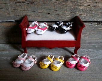 Zapatos lazo y hebilla para Blythe pullip pure neemo