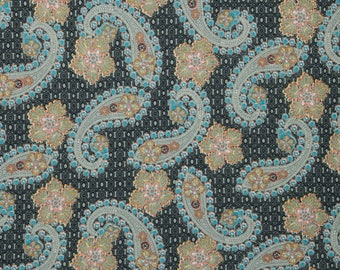 "Paisley Jersey Knit Print #184 Polyester Rayon Modal Blend Spandex Lycra Stretch Apparel Fabric 58""-60"" Wide By The Yard"