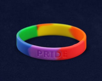 Rainbow Pride Silicone Bracelet (RE-SILB-RB)