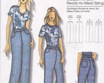 Butterick 5403 Vintage Pattern Womens Pants in 2 Variations Size X Sm, Sm, MEd, Lg, X Lg UNCUT