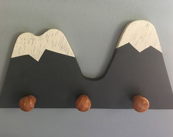 Snow-capped mountain wall hanger