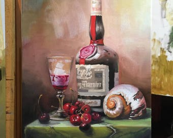 A copy of Gabor Toth's picture. Still life