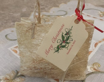 Personalized Favor Tags 2 1/2'', Xmas tags, Thank You tags, Favor tags, Gift tags,Christmas Favor tags, Holliday Tag