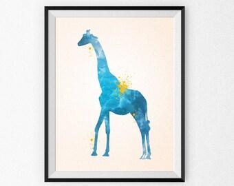 Nursery Art Print Canvas - Nursery Watercolor Painting - Kid's Room - Children's Art - Nursery Canvas - Nursery Painting - Watercolor Animal