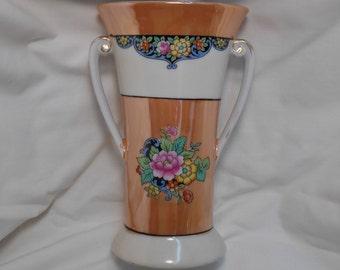 Beautiful Double Handled Noritake Lustreware Vase Mint Condition