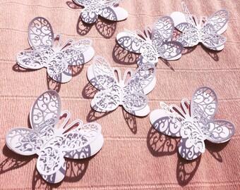 25 pcs. White Butterflies/ Paper Butterflies/ Butterflies DIE CUT/ Paper confetti/ Butterflies for scrapbooking/ Party décor/Wedding décor/