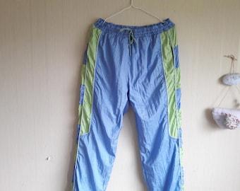 Blue tracksuit pants Size XL, vintage track pants women, 90s sports pants, track pants xl, hip hop pants, tracksuit pants