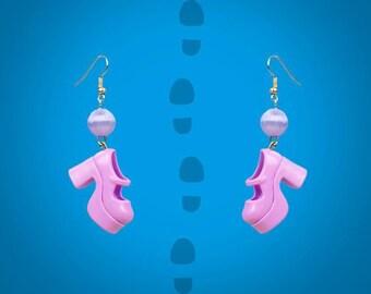 Earrings purple/parmes doll shoes platform shoes