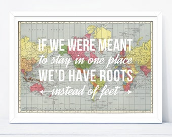 Adventures world map travel poster we must take adventures travel quote print wanderlust world map travel poster map world map poster wall decor map art quotes map of the world map print gumiabroncs Choice Image