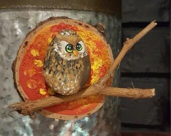 Autumn Owl Magnet - 039