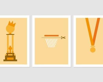 Print - Offre spéciale 3 Posters - Victory - No1, No2 et No3 - 30x40