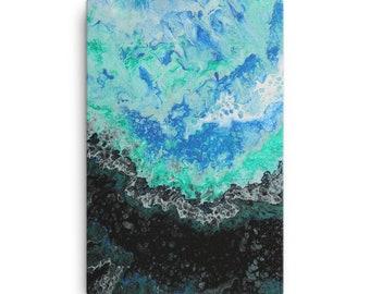 Abstract Ocean Print on Canvas