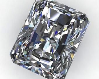 NEO moissanite - radiant cut moissanite, near colorless moissanite, loose stone