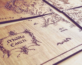 Middle Earth Place Mats (Lord Of The Rings & Hobbit Inspired)