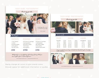 photographers price list template floral photography pricing