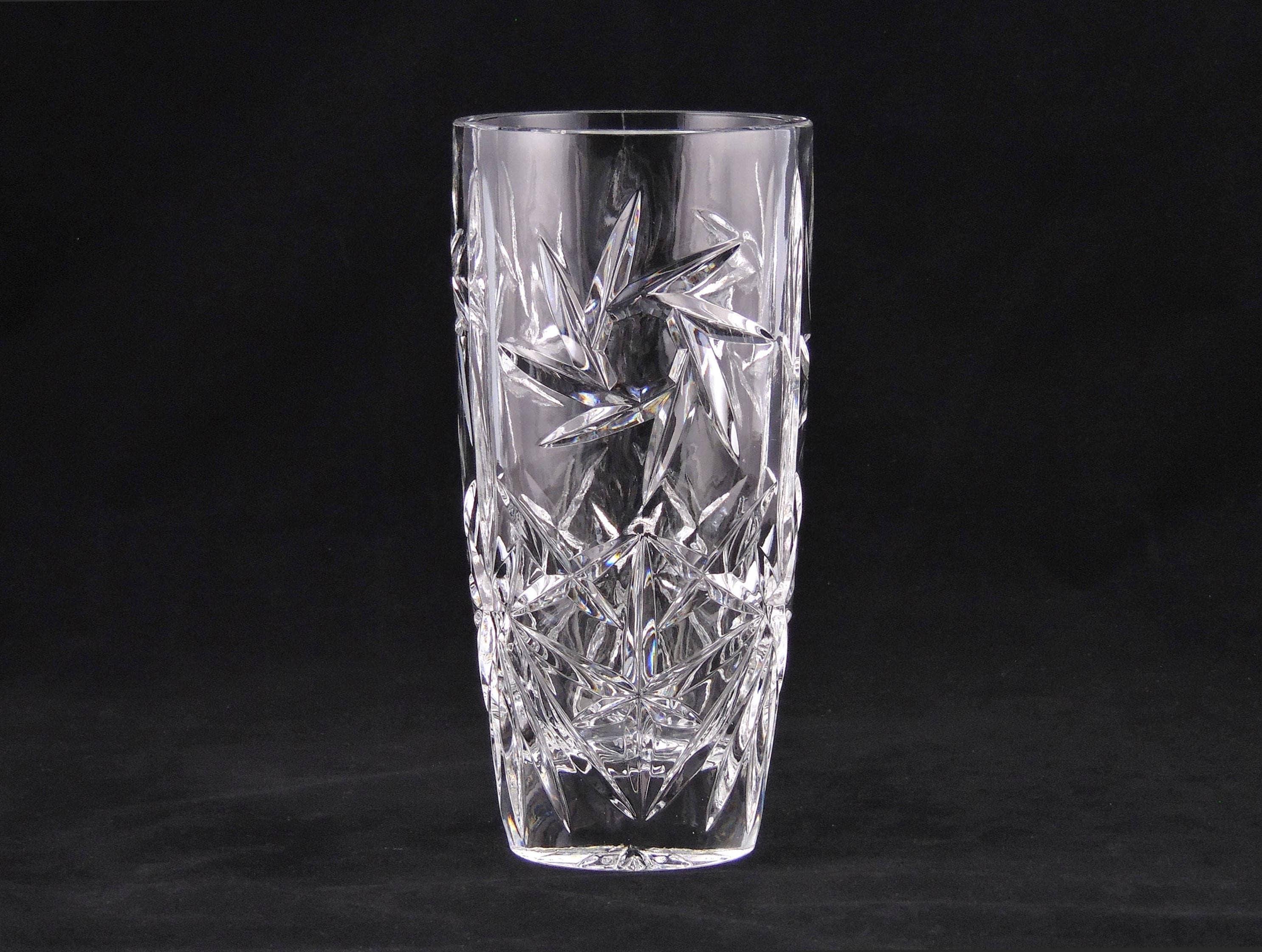 Pinwheel pressed 8 crystal vase 1940s vintage thick zoom reviewsmspy